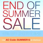 Save 15% During Our End of Summer Sale