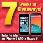 7 Weeks of Giveaways – Nexus 5 and iPhone 5