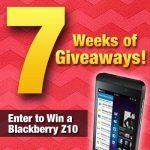 7 Weeks of Giveaways – BlackBerry Z10
