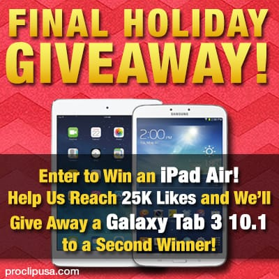 iPad Air Giveaway