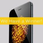 iPhone 6 Giveaway Winner