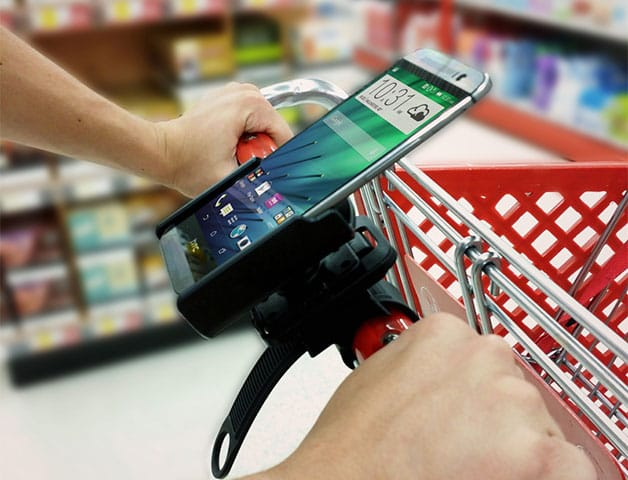Shopping Cart Phone Mount and Shopping Apps
