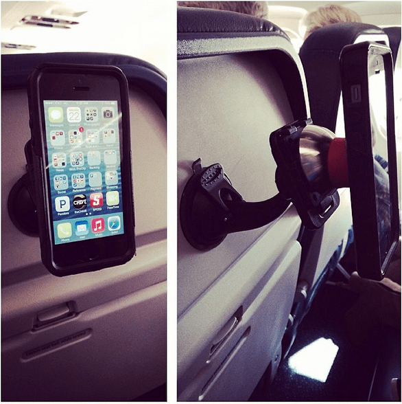 Suction Cup Airplane Phone Mount