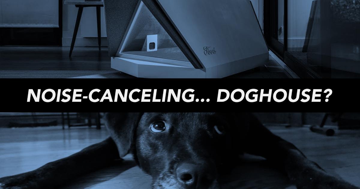 Noise cancelling dog house